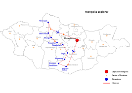 Mongolia Map All Inclusive Mongolian Holidays Best Of Mongolia Tour