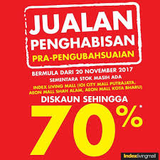 Index Living Mall Pre Renovation Clearance Sale Loopme Malaysia