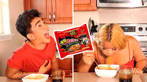 Challenge Bretman Rock Bretman Rock Does The Spicy Noodle Challenge With His And