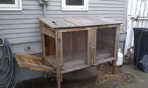 Home Made Rabbit Hutches Cedar Rabbit Hutch Re Do Run Qs On Page 3 Backyard Chickens