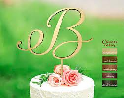 b cake topper letter b cake topper etsy