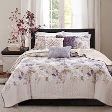 Quilted Coverlets And Shams Madison Park Piper Taupe 6 Piece Quilted Coverlet Set Free