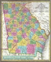 State Of Georgia Map by 1838 Georgia