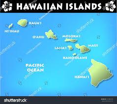 Blank Map Of Hawaiian Islands by Map Hawaiian Islands Stock Illustration 131064782 Shutterstock