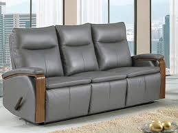 Grey Leather Reclining Sofa by Global Gray Leather Dual Reclining Sofa Bailey U0027s Furniture