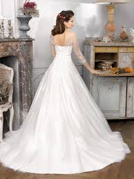 wedding dress necklines vintage organza ballgown wedding dress with illusion neckline