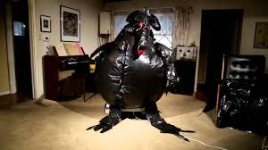 inflatable spider halloween homemade garbage bag inflatable creature halloween 2015 youtube