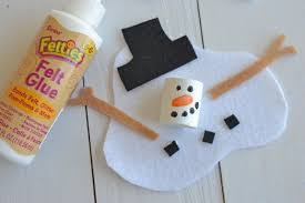 melted snowman craft project for kids darice