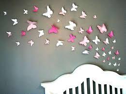 déco murale chambre bébé deco mural chambre papillon papier sur mur chambre enfant