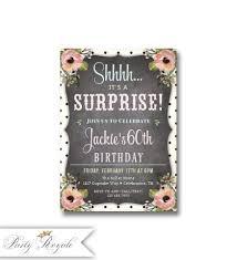 surprise birthday invitations 60th birthday for women 40th