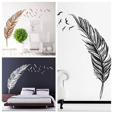 flying feather waterproof wall stickers henna birds wall