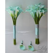 tiffany blue calla lily real touch calla lilies helen roses