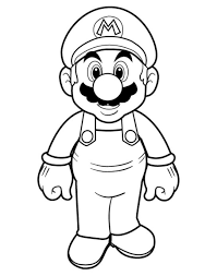 mario bros coloring pages for kids cartoon coloring pages of