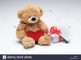 valentines bears teddy bears with heart valentines day concept stock