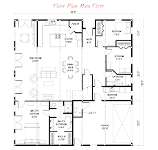 barn floor plans for homes gambrel plan 4388 edg collection at house floor plans