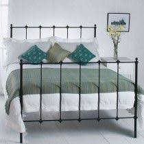 obc edwardian 2ft 6 small single glossy ivory metal bed frame