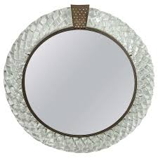 Wall Vanity Mirror Venini Italian Murano Glass And Bronze Wall Or Vanity Mirror