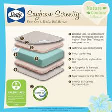 Plastic Crib Mattress Cover by Sealy Soybean Foam Core Crib Mattress Buy Buy Baby Best Mattress