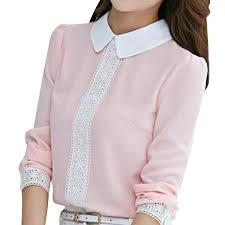 crochet blouses arrival 2016 autumn pan collar chiffon blouse s