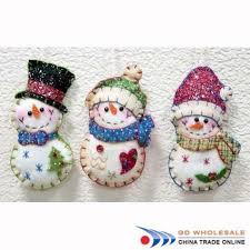 santa snowman felt ornament ornament stitched santa