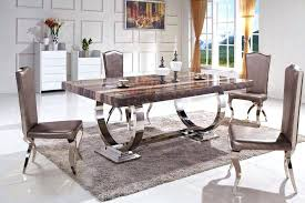 marble and metal dining table mypic me