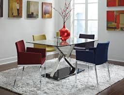 blue leather dining room chairs with wood legs jfs image 18 of 18