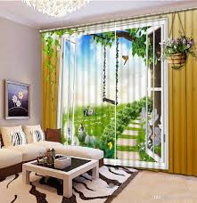 Patterned Window Curtains 2018 Blackout Bedroom Curtain Nature Landscape Custom Curtains