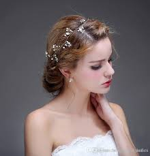 cheap hair accessories wedding copper wire tiaras hair accessories pearl