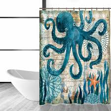 Octopus Home Online Shop Miracille Sea Turtle Waterproof Shower Curtain Octopus