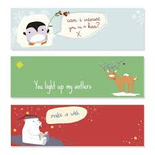 cute christmas banners vectors christmas banners