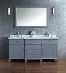 stufurhome cadence grey 60 inch double sink bathroom vanity with