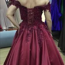wedding dress maroon burgundy satin gown wedding dresses lace v neck the