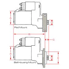 powermaster powermaster 3124 mustang starter oe style for 157