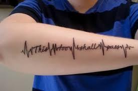 black heartbeat quote for forearm segerios com