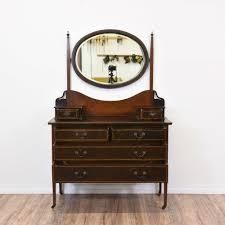 Antique Dresser Vanity Antique Dresser Vanity W Oval Mirror Loveseat Vintage Furniture