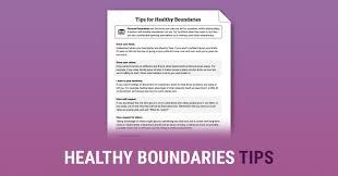 healthy boundaries tips worksheet therapist aid
