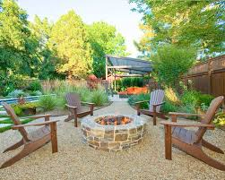 Backyard Patios With Fire Pits by Pea Gravel Fire Pit Houzz