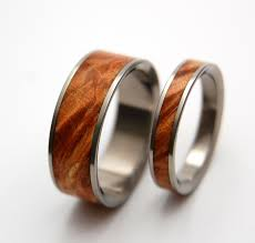 wood engagement rings wedding rings titanium rings wood rings mens rings