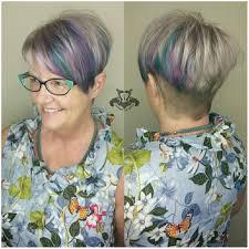 coloring pixie haircut platinum silver and pastel tones undercut pixie haircut http