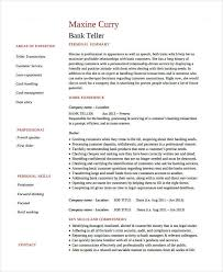 Job Description Of A Teller For Resume by Teller Resume Bank Teller Resume Sample U0026 Template Page 2 Bank