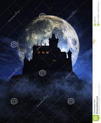 halloween background picture 3d halloween background with spooky castle stock illustration