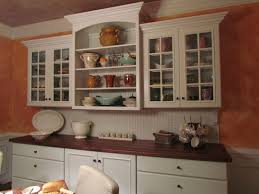 Glass Panel Kitchen Cabinets Classic White Wooden Wall Cabinet With Clear Glass Panel Door Of F
