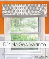 Kitchen Curtain Fabric by Best 25 Valance Ideas Ideas On Pinterest No Sew Valance
