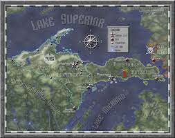 up michigan map michigan s peninsula rifts rpg by ferocefv on deviantart