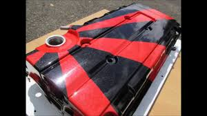 Car Bonnet Flags Honda Custom Painted Rising Sun Valve Rocker Cam Engine Cover B16