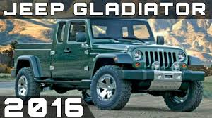 jeep gladiator 2016 2016 jeep gladiator review youtube