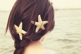 starfish hair clip starfish hair barrette starfish hairclip mermaid accessories
