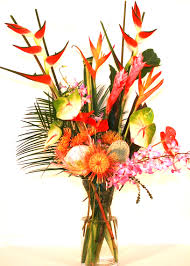 tropical flower arrangements fresh hawaiian flower bouquets mixed flower bouquets