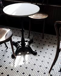 classic white black hex tile bars and eateries pinterest