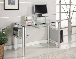 Small Glass Desks Small Glass Computer Table Clear Desk L Shaped Condo Office